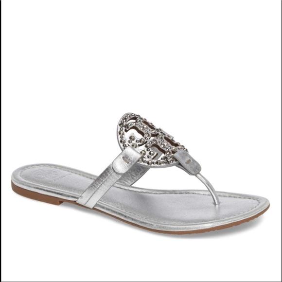 fd047e47dcb NWT Tory Burch Miller Embellished Sandals. M 5bb2e4a6d6dc52f0f07c8161